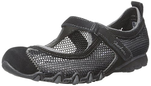 Skechers Bikers-herbe Jardin Mary Jane Flat Black