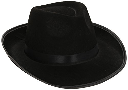 ter Velours Hut mit Futter und Band, One Size, Schwarz, 25239 (Schnelle Und Einfache Halloween Kostüm Ideen)