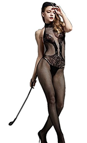 6Moon Sexy Neckholder-Catsuit im Ouvert-Stil Bodystocking 880-23 -