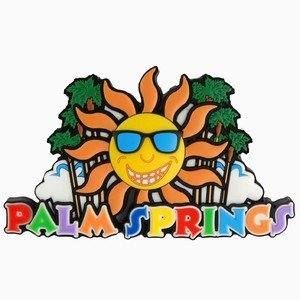 Palm Springs Sun Palms Laser Magnet 46951 by City Coffee Mugs Palm Laser