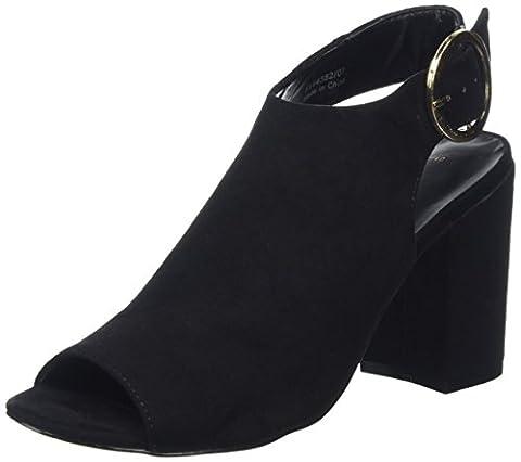 New Look Raspy, Damen Peep-Toe Pumps, Schwarz (Schwarz), 38 EU (Schwarz Peep Toe)