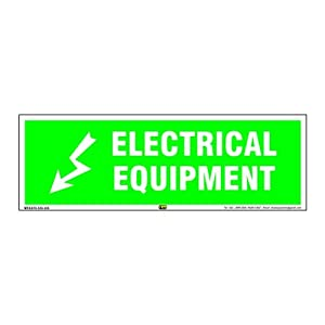Mr. Safe – Electrical Equipment Sign PVC Sticker 12 Inch X 4 Inch