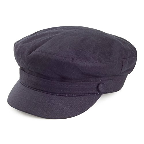 Casquette de Marin en Lin bleu marine FAILSWORTH - MEDIUM