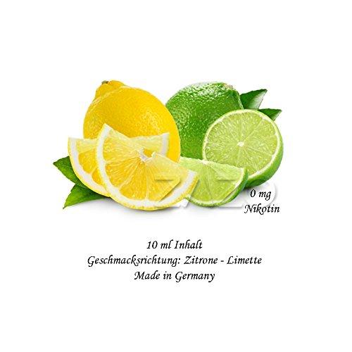 Zitrone Limette 10ml für E-Zigaretten/Shishas 0mg Nikotin