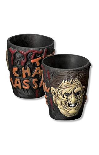 Horror-Shop Texas Chainsaw Massacre Gläser (Gesicht Texas Chainsaw)