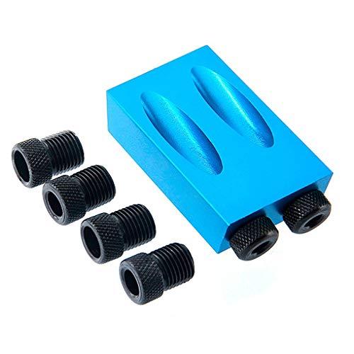 Vkospy Sackloch Jig Kit 6/8 / 10mm Antriebs Adapter für Holzbearbeitungswinkel Bohren Löcher Locher Locator Set -
