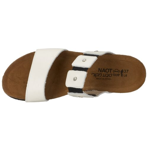 NAOT - Ashley, Damen Schuhe Pantolette, Sommerschuhe Weiß (white)
