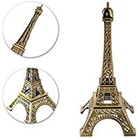 DSstyles Torre Eiffel Modelo Torre Eiffel Estatua Metálica Estatuilla Torre Eiffel para Recuerdos - 15cm