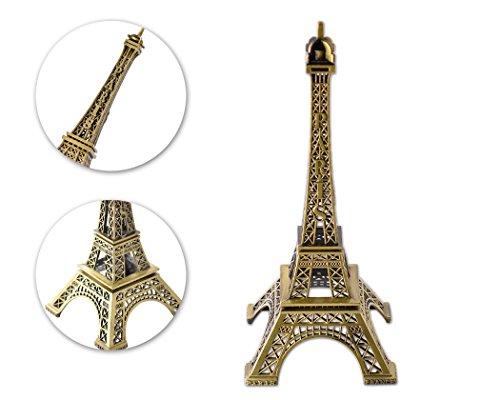 DSstyles Eiffelturm Modell Eiffelturm Metallische Statue Eiffelturm Figur für Souvenirs - 15cm