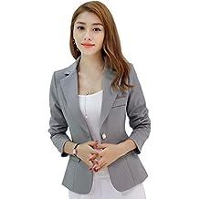 32b857c3a2a Kaiyei Mujer Otoño Primavera Blazers y Chaquetas Trabajo Oficina Dama Traje  Slim Office Blazer Mujer Escudo