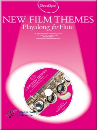 Preisvergleich Produktbild New Film Themes Playalong for Flute - Flöte Noten [Musiknoten]