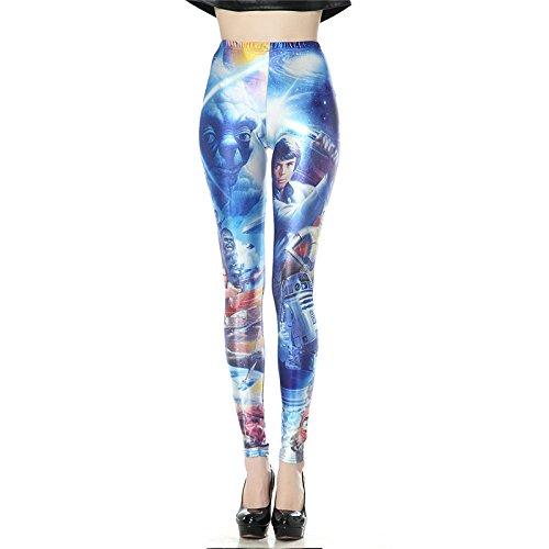 Guerre des étoiles de conception numérique 3D Legins Leggins Femmes imprimé par sublimation Collants Pant KDK1311 XL