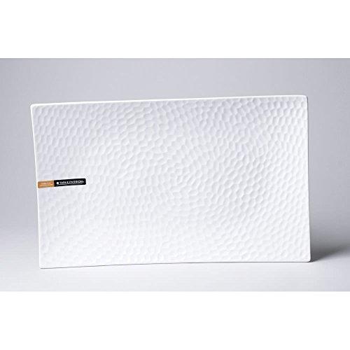 Table Passion - Plat rectangle porcelaine blanche 41x25cm