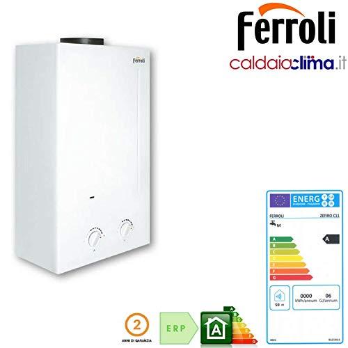 Calentador de Gas Ferroli Zefiro C10 Lt.11 GLP