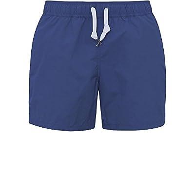 oodji Ultra Hombre Bermudas de Baño, Azul, L