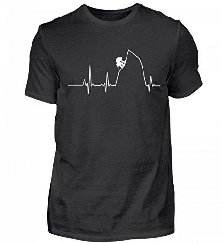 Hochwertiges Herren Shirt - Ideal für Jeden Kletter-Fan - Herzschlag