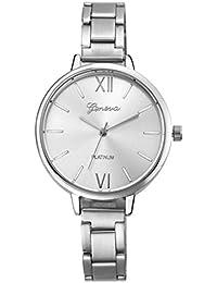 Relojes Pulsera Mujer,Xinan Pequeña Banda de Acero Relojes Cuarzo Analógicos (Plata)