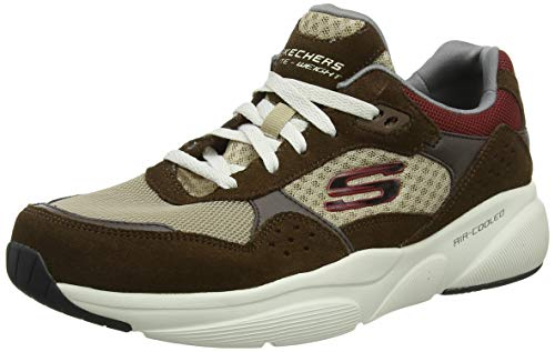 Skechers Meridian-Ostwall, Sneaker Uomo, Marrone (Brown BRN), 43 EU