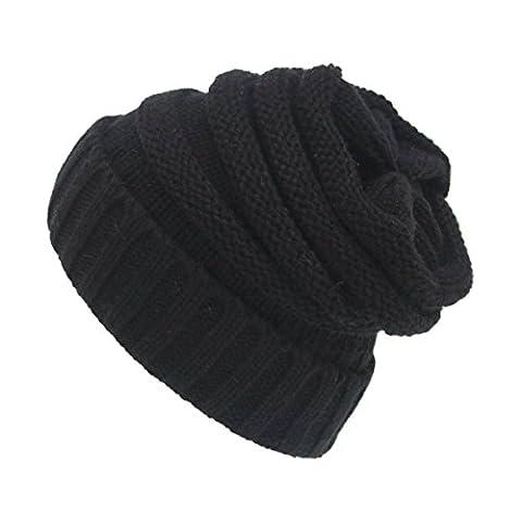 Chaud Chapeau Bonnet la Laine - iParaAiluRy Unisexe Adulte Hiver Tricoté Chapeau pour Homme Femme - Crochet Beanie Hats