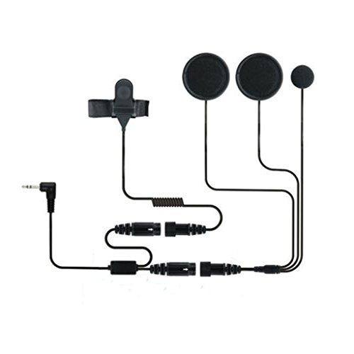 Motorrad-Helm Rennsport-Headset Fuer Motorola Talkabout Cobra Radios 2.5mm