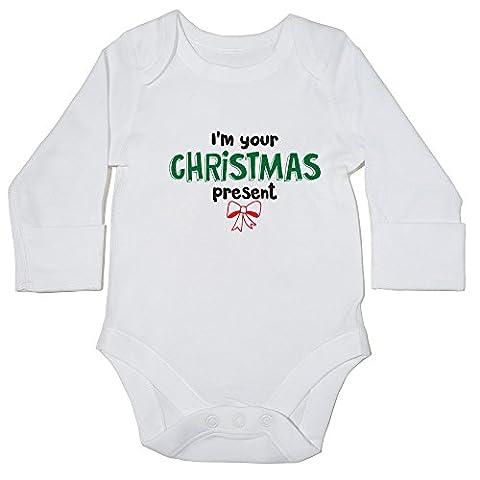 hippowarehouse I'm Your Body bébé cadeau de Noël () à manches longues pour garçons filles - blanc - 6 mois