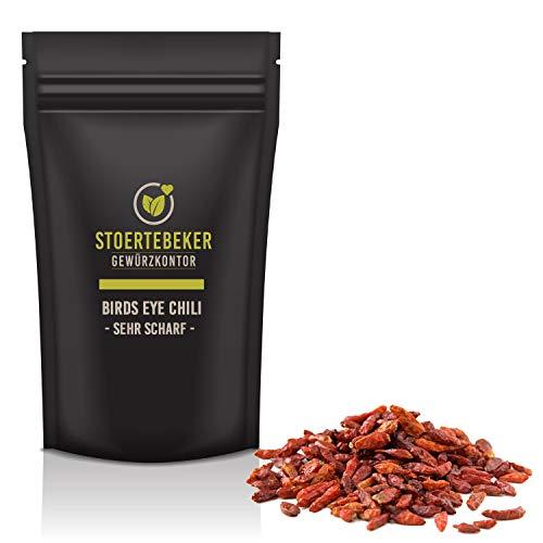 250g Birds Eye Chili Schoten ganz extrem scharf Chilli in Spitzenqualität - Gourmet Serie