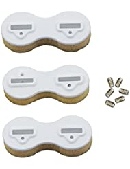 3pcs/lot plástico aleta fcs Fusion caja tabla de surf aletas Surf Plugs Set, blanco