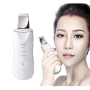 VOUMEY Dispositivo ultrasónico de limpieza de la piel facial Eliminación de la espinilla Máquina de depuración de la…