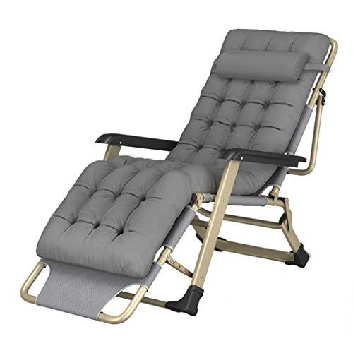 Deck Stühle (Grau) Multi-Winkel-Einstellung mit Wattepad Oxford-Tuch Wetterfest Abnehmbare leichte für Balkon Wohnzimmer Patio ()
