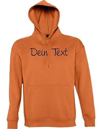 Shirtstown -  Felpa  - Collo a U  - Maniche lunghe - Uomo Arancione