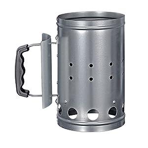 HI 60061 – Encendedor de carbón para barbacoa, metal, color plateado, 1 unidad