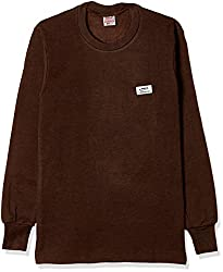 Rupa Thermocot Womens Plain / Solid Synthetic Thermal Top (VOLCANO_Brown_85)