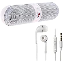 Indoraptor Bluetooth Capsule (Pill) Speaker With FM   Pen-drive SD Card Input   MP3 Music Player With Samsung Galaxy J7/Galaxy J5/Galaxy J3/Galaxy J2/Galaxy J1 Headphones With Mic With Deep Bass And Music Equalizer