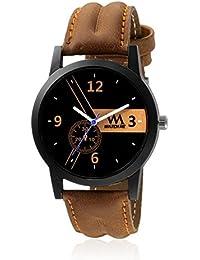 Watch Me Black Dial Brown Leather Strap Watch For Boys WMC-001 WMC-001omtbg