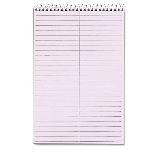 TOPS Products - TOPS - Spiral Steno Notebook, Gregg Rule, 6 x 9, Orchid, 4 80-Sheet Pads/Pack - Sold As - Letr-Trim perforations for a clean tear. - Colored paper is easy on eyes. - Ruled in light gray with center line. - Coil-lock wire binding with stiff back. - 6 x 9. by Tops - Clean Coil