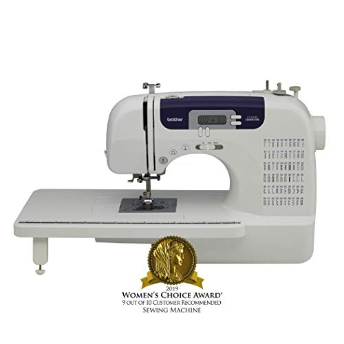 Brother CS6000I 60-Stitch Computerized Free-Arm Sewing Machine with Multiple Stitch Functions by Brother