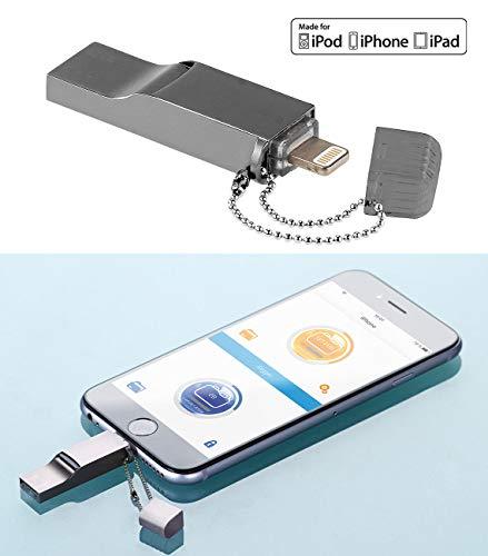 Callstel iPhone Stick: USB-Speicher-Erweiterung kompatibel mit iPhone, iPad & iPod, bis 128 GB, MFI (Speichererweiterung iPhone)
