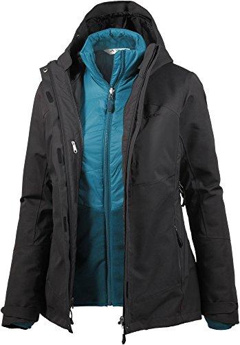 VAUDE Damen Miskanti 3in1 Jacket Doppeljacke, Phantom Black, 40