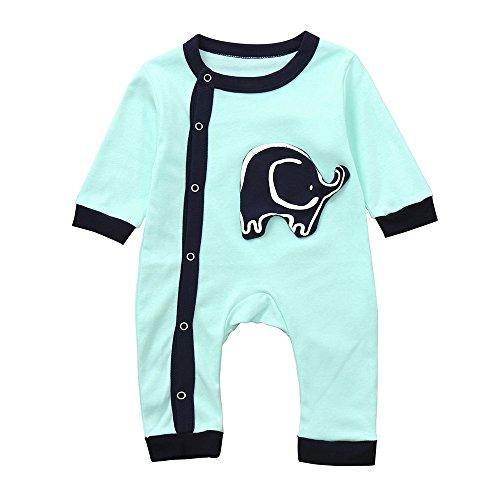 PLOT Baby Romper Elephant Jumpsuit Short Sleeve Clothes Bodysuit Clothing Outfit