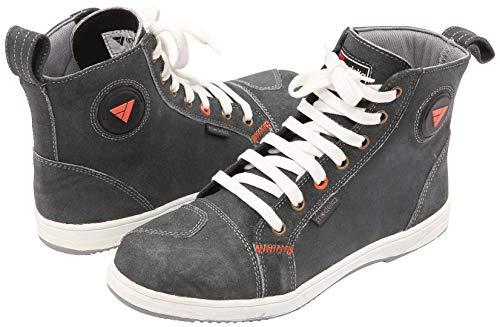 Modeka Ramble Sneakers/Stivali da moto da uomo, in pelle, colore grigio