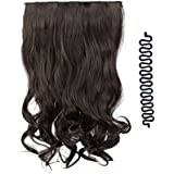 Majik Curly Synthetic Hair Extensions 24 inches Long (Dark Brown) (Free Braids Tools)