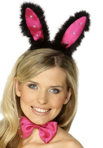 SMIFFY 'S Bunny Ohren-Set, schwarz/pink (Trim Bunny)