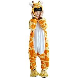 DarkCom Niños Pijama Enterizo Animal Cosplay Disfraces De Dibujos Animados Mono Dormir (110(se sugiere Altura:102cm-110cm), Jirafa)