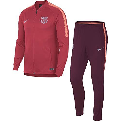 Nike Herren FCB M NK Dry SQD TRK K Trainingsanzug, rosa (Tropical deep Maroon/lt Atomic pink), M (Barcelona Nike Rosa)