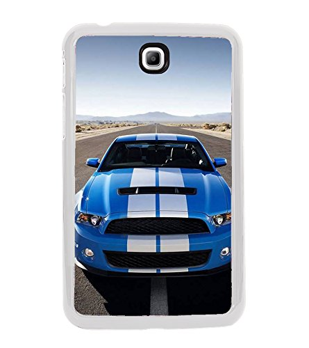 Fuson Designer Back Case Cover for Samsung Galaxy Tab 3 (8.0 Inches) T310 T311 T315 LTE (Car Blue Car Car on road Sports car Clear Sky)  available at amazon for Rs.199