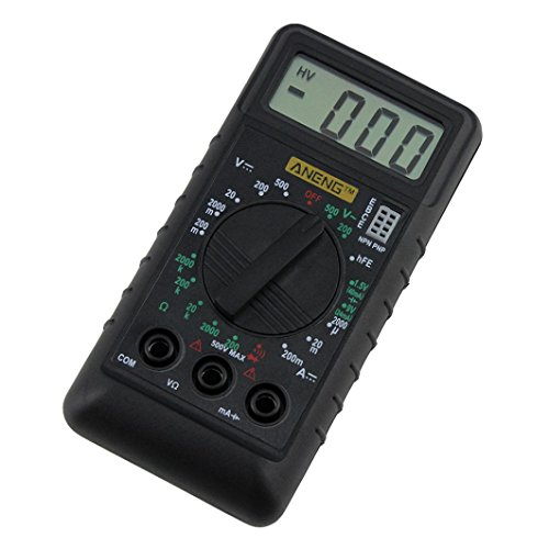 Multimeter Digital, Hunpta@ ANENG Handheld LCD Digitalmultimeter 3 1/2 Voltmeter Ohmmeter Multitester F7 (Schwarz)