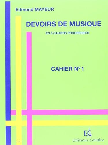 Devoirs de musique cahier 1