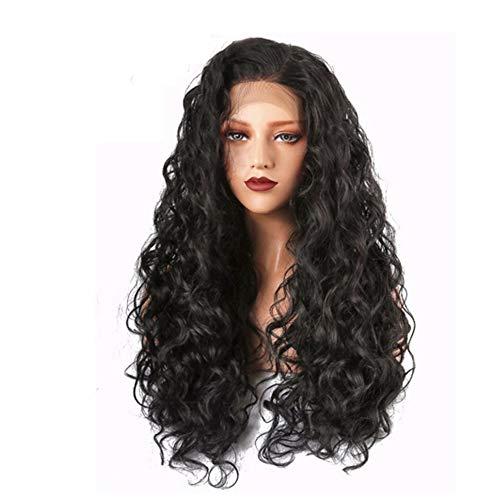 ZhiGe Vordere Spitzenperücke,Perücke Frau langes lockiges Haar front Lace Perücke kleinen lockigen ()