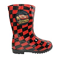 Disney Cars Boys Wellies Boots Lightning McQueen Red 27/28