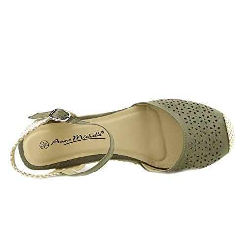 Kick Footwear - Donna Tacchi Comodi Slingback Cinturino Alla Caviglia Gladiatore Sandali Estivi Khaki